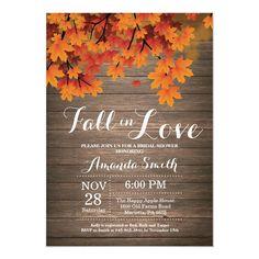 Fall Wedding Invitations, Bridal Shower Invitations, Wedding Stationary, Bridal Shower Rustic, Rustic Wedding, Couple Shower, Wedding Colors, Wedding Ideas, Wedding Stuff