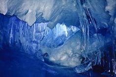 mt erebus ice caves, antarctica