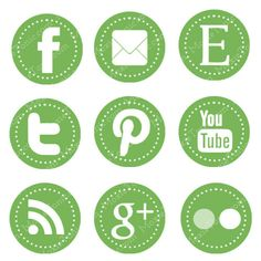 Cute Social Media Icons for Blogs