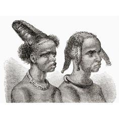 Headdresses Of South African Native Women In The Century From Africa By Keith Johnston Published 1884 Canvas Art - Ken Welsh Design Pics x 24 Nativity, 19th Century, Canvas Art, African, Welsh, Vintage, Pictures, Design, Women