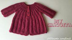 PARTE 2 -  Cómo tejer chaqueta de niña en dos agujas. Aquí os dejo el link del patrón, es gratis. http://diymodaconemil.blogspot.com.es/2015_11_01_archive.html