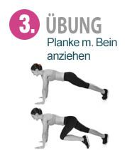 Planke mit Bein anziehen Online Fitness, Makeup Guide, Best Beauty Tips, Self Healing, Healthy Diet Plans, Alternative Health, Weight Loss Plans, Workout Challenge, Beauty Routines