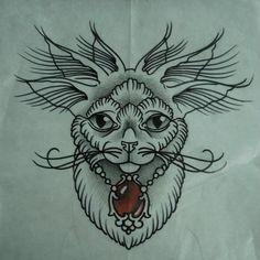 #tattoo #sketchtattoo #idea #ink #sketch #tattooartist #tattoonhamon #cat #Traditional