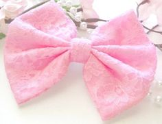 pink lace bow ♡
