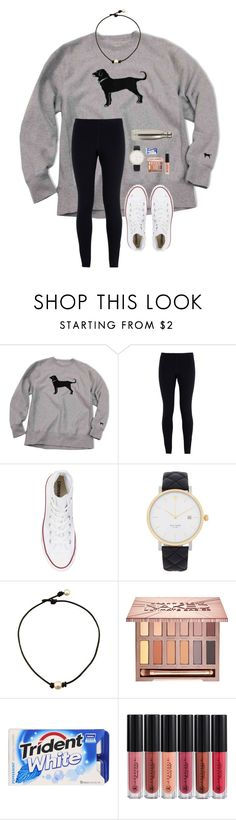 """""""Futsol game today for soccer"""" by a-devo ❤ liked on Polyvore featuring NIKE, Converse, Kate Spade, Urban Decay, Anastasia Beverly Hills and S'well"""
