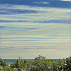 #beach #skypainters #view #landscape #prisma #painting #paint #stripes #textures #minimalist #minimal #clouds