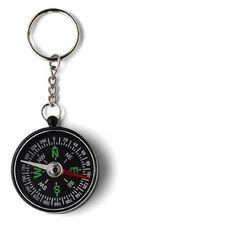Sleutelhanger Kompas - te bedrukken met eigen tekst of logo.