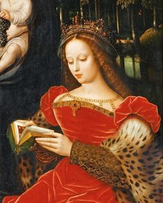 Ambrosius Benson (c. 1495-before 1550) Virgin and Child with Saints Catherine of Alexandria and Barbara (detail)