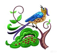 Free Jef Embroidery Design Downloads | Birds Paradise Jf307 Embroidery Design