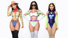 Shoppers slam Fashion Nova's 'sexy' and 'inappropriate' Toy Story costumes for Halloween Toy Story Halloween Costume, Black Girl Halloween Costume, Toy Story Costumes, Trendy Halloween, Sexy Disney Costumes, Couples Halloween Outfits, Cool Costumes, Girl Group Costumes, Halloween Disfraces