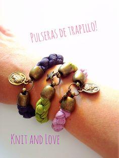 PULSERAS DE TRAPILLO EN 5 MINUTOS / Knit and Love