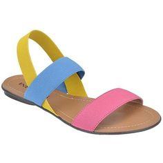 sandalia rasteira com tira elastico