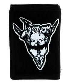 Venom Black Metal Tri-fold Wallet Alternative Clothing Heavy Metal Music