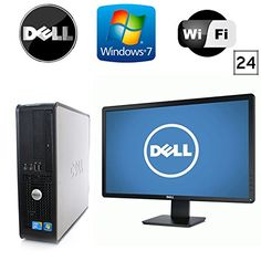 "awesome Dell Optiplex 745 SFF - Intel Pentium Dual Core 3.4GHz - 4GB RAM - *NEW* 1TB HDD - Microsoft Windows 7 - WiFi - DVD-ROM + *NEW* 24"" Dell LCD Monitor! (Prepared by Re-Circuit)"