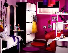 think big in small spaces. Girls 12-17. very CUTE! the room is pretty small but they made it look GREAT