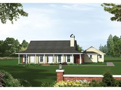The Moss Landing Country Home has 3 bedrooms and 2 full baths. See amenities for Plan 039D-0007.