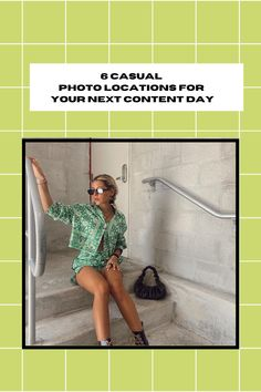 6 Casual Photo Locations for Your Next Content Day Campus Style, Bathroom Photos, Photo Location, How To Take Photos, Instagram Feed, Going Out, Cool Photos, College, Photoshoot