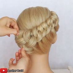 Braids For Short Hair, Cute Hairstyles For Short Hair, Front Hair Styles, Hair Videos, Braided Updo, Eye Makeup, Hair Makeup, Oddly Satisfying Videos, Hair Beauty