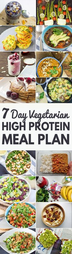 Get our 7 Day Vegetarian High Protein Meal Plan - Build Muscle and Tone Up! | hurrythefoodup.com