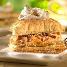 Pumpkin Mousse Napoleons #puffpastry #easy #dessert