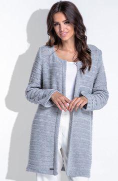 19e262feb0eb Fobya F421 sweter szary - Swetry i Narzutki damskie - Modne swetry damskie  - FOBYA swetry - Sklep Intimiti.pl