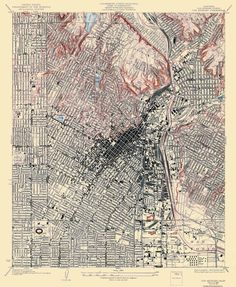 Topographic Map Activity All Things Science Pinterest Map - Los angeles topographic map