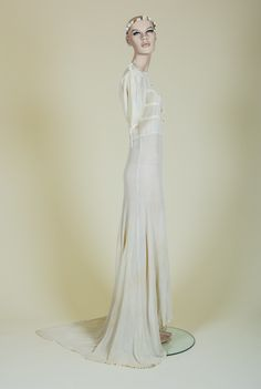 30s wedding gown