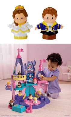 Your little prince or princess will love to bring the Little People Disney Princess Belle & Prince to the Disney Princess Songs Palace and discover their unique sounds and songs. #Playtime #Toys