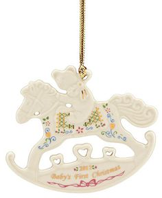 baby l lenox christmas ornament exclusive 2012 babys first rocking horse holiday lane
