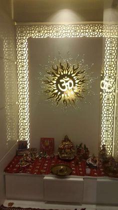 home mandir design decoration Temple Room, Home Temple, Altar, Temple Design For Home, Mandir Design, Pooja Mandir, Pooja Room Door Design, Puja Room, False Ceiling Design