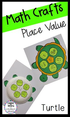 This turtle is the perfect activity for your students to practice different ways to represent numbers. It can be easily differentiated by having students use higher or lower numbers. Each set includes 3 and 4 digit numbers. Place Value Activities, Activities To Do, Classroom Activities, Classroom Setup, Math Classroom, Kindergarten Activities, Math Crafts, Numbers Kindergarten, Fun Math