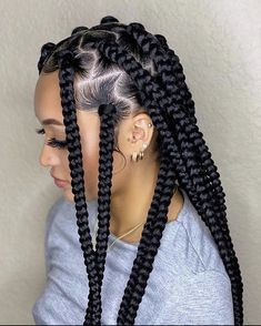 Box braids hairstyles are a timeless protective hairstyle and we rounded up 40 box braids hairstyles you'll want to try in 2021. Box Braids Hairstyles For Black Women, Braids Hairstyles Pictures, Black Girl Braids, African Braids Hairstyles, Braids For Black Hair, Girls Braids, Hair Pictures, Protective Hairstyles, Cute Box Braids Hairstyles