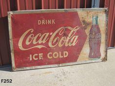 VINTAGE DRINK COCA COLA COKE BOTTLE METAL OLD SIGN SODA POP ADVERTISING MCA RARE #CocaCola