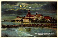 Vintage Postcard / Hotel Del Coronado Hotel by Night / California 1921