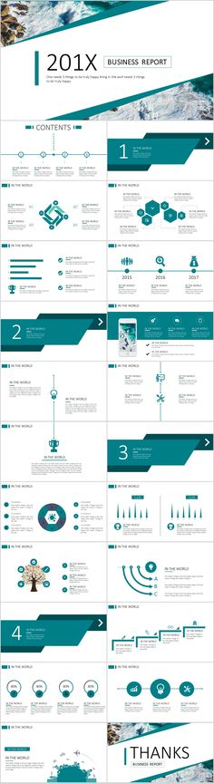 Business infographic : 23 Blue business chart report PowerPoint templates on Behance Simple Powerpoint Templates, Keynote Template, Report Template, Business Presentation, Presentation Design, Web Design, Chart Design, Layout Design, Design Trends