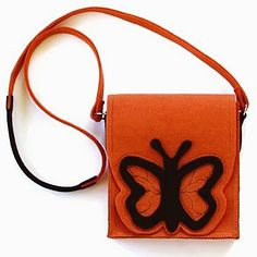 Orange butterfly - bag for a little girl