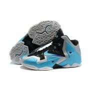 Cheap Nike Lebron 11 Sky Blue Black Grey Shoes $87.90  http://www.retrowhite.com/