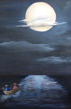 Peace on the sea; 2016; Oil on canvas;50x70