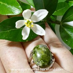 Unakite Crystal Gemstone Ring Adjustable