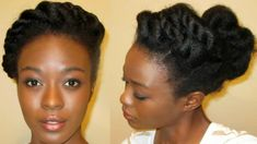 Im here with another holiday hair idea. This time were doing a totally twisted updo. Some of you want ed to know more about the updo that I did so I recreated it. Im actuall - August 10 2019 at 4b Natural Hair, Natural Hair Twists, Natural Haircare, Be Natural, Natural Hair Styles, Long Hair Styles, Going Natural, Natural Makeup, Natural Beauty
