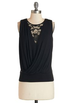 What a Drape Idea! Top. Your most brilliant idea of the weekend was donning this black tank top! #black #modcloth