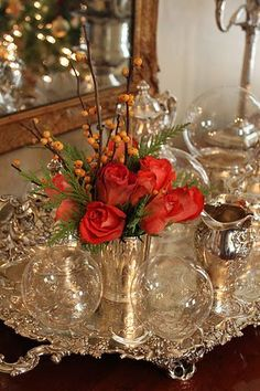 Beautiful Silver and Crystal Vignette