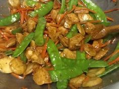 This is a go-to dinner for my family.  I marinate the chicken in the morning, and it's a pretty quick fix for dinner in the evening.  Fresh stir fried vegetables add texture and color, while the marinated chicken brings complex flavors to the dish.