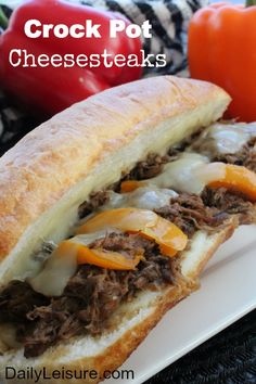 Crock Pot Cheesesteaks Recipe