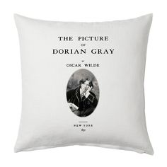 The Picture of Dorian Gray Pillow Cover, Book pillow cover. Throw Pillow, Cushion Cover, Oscar Wilde