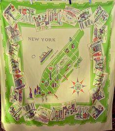 Manhattan vintage tablecloth