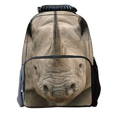 Amazon.com  Vere Gloria Unisex School Backpack Bags 3D Animal Print Felt  Fabric Hiking Daypacks (rhinoceros)  Sports   Outdoors. School Bags For KidsAnimal  ... 48a4e6a22bb8e