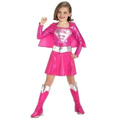 Child Pink Supergirl Costume #Child #Pink #Supergirl #Costume