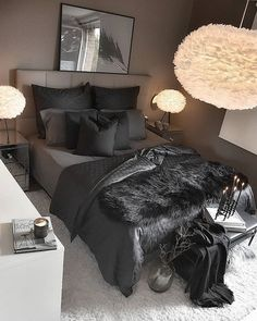 Living Room Design Ideas: Tips for choosing style, Decoration and Furniture - ChecoPie - Ceiling Design Ideas Black Bedroom Decor, Room Ideas Bedroom, Home Decor Bedroom, Grey Bedroom Design, Interior Livingroom, Teen Bedroom, Entryway Decor, Wall Decor, First Apartment Decorating