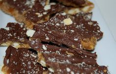 - Layers of saltine crackers, toffee, peanut butter, chocolate ...